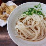 おにやんま - 料理写真:冷ぶっかけ並(330円)+鶏天(120円)