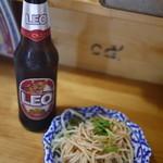 ソンクラン - タイの人気ビール(LEO)&お通し☆