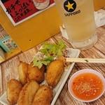 タイ食堂 ひょうたん - トッドマンクン(海老擂り身揚げ)