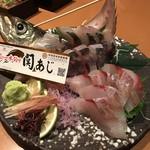 オロチと柊 - 関アジ付きお造り盛り