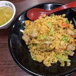 餃子の王将 - 「極王炒飯」(680円+税)。王将さんではやっぱりノーマルの方がボクは好きだなー。