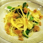慶喜 - 前菜、からすみ菜の花のパスタ