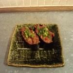 11535782 - 肉寿司。ネギトロ。
