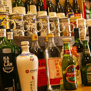 台湾紹興酒全8種。オリジナルの台湾カクテルも豊富です
