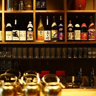 全国の酒蔵から選りすぐった日本の酒たち