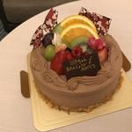 カフェレストラン フォンテーヌ - チョコホイップデコレーションケーキ(3,180円)