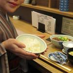 天神 わっぱ定食堂 - 福岡市の繁華街である天神・今泉エリアの中心部で、ご飯のおかわり無料の定食を頂きました。
