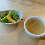 森のソーセージレストラン ベルツ - 最初にサラダとスープ
