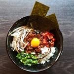 八鶏 - 【ランチメニュー】八鶏式・台湾まぜそば!鶏ひき肉を使った肉味噌、辛いもの好きな方はぜひ!