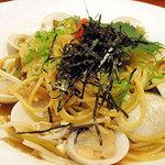日本の洋食キートン - 蛤、明太子、焼きネギの京和風パスタ980円