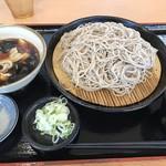 小木曽製粉所 - 肉つけそば大盛@850円