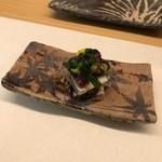 天ぷら 小泉 - 料理写真:かますと菊菜