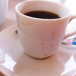 こだわりとんかつ たやま - こぼれて悲惨なコーヒー