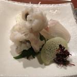 Dining&Bar さがん - 鱧と鯛のお造り^^