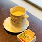 牛タン専門×ユッケ寿司 全席個室居酒屋 うま囲 - お通し チーズフォンデュ