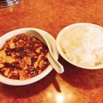 115425059 - 麻婆豆腐とご飯です。(2019.9 byジプシーくん)