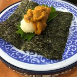 無添くら寿司 - 料理写真:たっぷりウニ手巻き