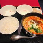新宿 秀山 - 温玉担々麺ハーフセット