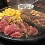 いきなり!ステーキ - ワイルドステーキとハンバーグが150グラムずつ