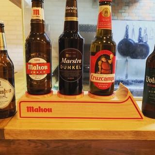 豊富なスペインピール♪珍しいスペインの旨いビール用意してます