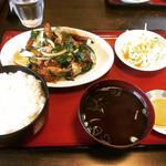 光彩 - 料理写真:レバー炒め定食 ¥750-