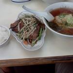 中華 ひのまる - Cセット(ラーメン、レバニラ小、ライス)