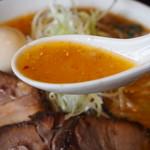 けやき - チャーシューラーメン(スープ)