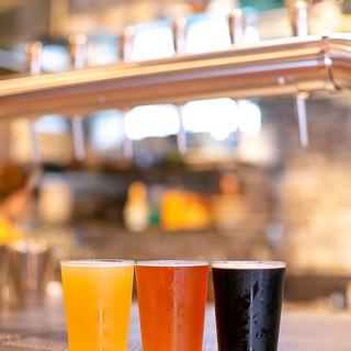 様々なスタイルのビールを日替わりで12種類オンタップ
