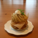 フィーユ・ダンジュ - 料理写真:和栗のモンブラン
