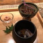 鉄板焼 心 - 鉄板焼 心(先付/季節の味わい三種)