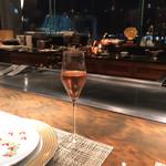 鉄板焼 心 - 鉄板焼 心(スパークリングワイン)