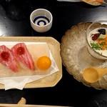 浅草一文 - カマトロのお鮨と湯葉