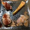 ビストロ よし川 - 料理写真:左上から時計回りに、イチヂク生ハム、キッシュ、鯛のカルパッチョ、鶏肉よガランテイーヌ