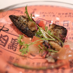 リストランテ カシーナ カナミッラ  - 秋刀魚、グレープフルーツ、炭。