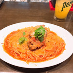 オステリア ヨシ - 牛ほほ肉のトマトソースパスタ