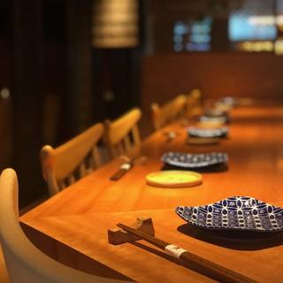 【大人の和食デートにも】心地よい和のカウンター席