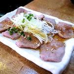 クシヤキ酒場ヤリキ - 炙りたん刺し(490円)