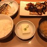 やよい軒 - なす味噌と焼き魚定食