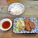 かごや - ランチ4.安藤シューマイ (焼きシューマイ)(3コ)ライス