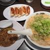 来来亭 - 料理写真:通常ラーメンのがっつりA定食  1100円 油多め、ネギ多め