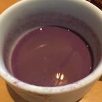 ガーブ モナーク - 黒人参の冷製ポタージュ、あっ!半分くらい飲みました(^_^;)