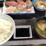中央食堂 - 料理写真:2019・9月14日   刺身定食  1100円