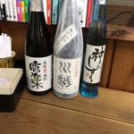 唐変木 - ドリンク写真:左手端は、唐変木という名前の大分県の焼酎だそう。