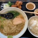 鶏そば - 塩鶏そば+唐揚げセット