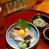 小料理弥生 - 料理写真:ビールとお刺身(食べ途中写真でスミマセン)