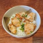 蔵 - ランチセットのミニ丼(鶏の旨塩揚げ丼)