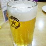サンサール - 生ビール。サッポロ中ジョッキです。