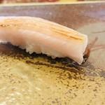 寿司割烹・難波 - ヒラマサのお腹