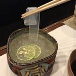 寿司割烹・難波 - この透明感  ツルツル冷えてサッパリと