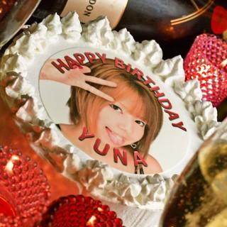 【誕生日・記念日・同窓会等など】サプライズにピッタリ!食べれる画像ケーキ☆
